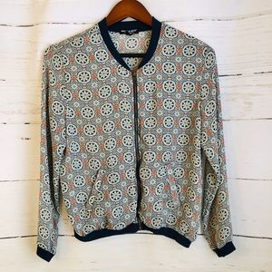 ABOUT A GIRL Lightweight Print Jacket. LIKE NEW!